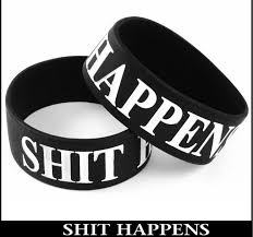 black bracelet rubber images Shit happens designer rubber saying bracelet bewild jpg