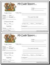 daily report sheet template toddler day care report free printable parents and daycare ideas