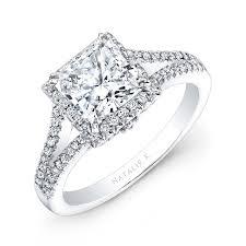 cheap princess cut engagement rings 18k white gold split shank princess cut halo diamo