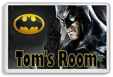 Batman Boys Bedroom Children U0027s Batman Plaques And Signs Ebay