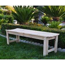 Patio Bench Cushion by Outdoor U0026 Garden Compelling Backless Cedar Garden Patio Bench By