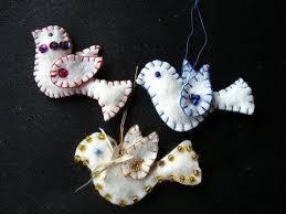 felt beaded birds ornaments free pattern
