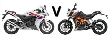Ktm D Versus Honda Cbr500r Vs Ktm Duke 390 Visordown
