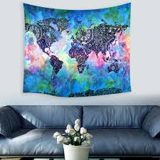 high quality world map indian mandala wall hanging yoga tapestry