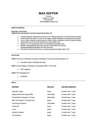 cover letter examples for radiologic technologist enchanting