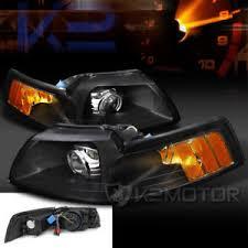 ebay mustang headlights black 1999 2004 ford mustang custom retrofit style projector