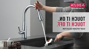 delta touch20 kitchen faucet delta essa kitchen faucet with touch2o technology delta touch20