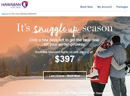Winter Deals On S Hawaiian Airlines Winter Sale Ends Tomorrow Fares Starting At