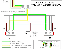 headlight and tail light wiring schematic diagram for for led