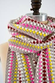 simple pattern crochet scarf granny stripe crochet scarf allfreecrochet com