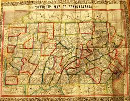 Map Og Pennsylvania In Early Pocket Maps
