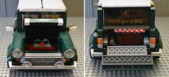 lego volkswagen t1 camper van bricks pix and panels lego review 10242 mini cooper