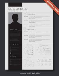 Awesome Resume Templates Free Flat Design Resume Template Vector