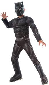marvel captain america civil war black panther deluxe muscle chest