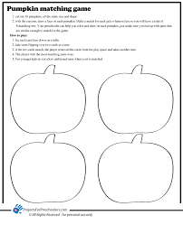 pumpkin matching game coloring page use for practicing