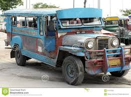 jeepney philippines old jeepney bus angeles sapangbato philippines editorial