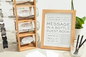 wedding guest sign in check out this diy message in a bottle guest book