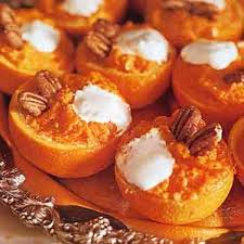 mashed yams in orange cups recipe epicurious