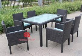 Aluminum Dining Room Chairs Outdoor Rattan Elegant Dining Table Elegant Garden Aluminum Dining