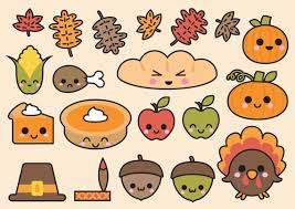 premium vector clipart kawaii thanksgiving thanksgiving