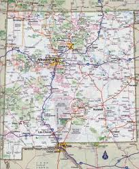 Interstate Map Of United States by Large Detailed Roads And Highways Map Of New Mexico State With