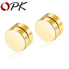 magnetic gold stud earrings opk magnetic stud earrings for men boy stainless steel