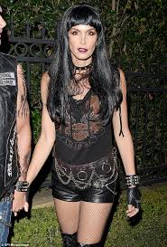 Womens Biker Halloween Costume Cindy Crawford Husband Rande Gerber Dress Hells Angels
