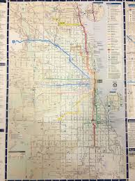 Downtown Chicago Map by Chicago Cta Train Bus Map