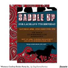 western cowboy rodeo party invitation template party invitation