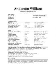 Resume For Theater How To Write A Resume For Kids Acting Resume Templates Theater