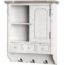 wall hanging shelf display cabinet unit with drawers chic shabby