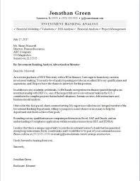 career letter sample investment banker cover letter sample monster com