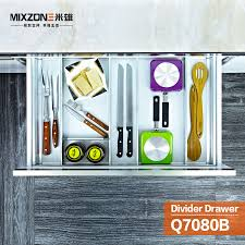 Kitchen Cabinet Divider Organizer Kitchen Cabinet Aluminum Alloy Utensil Divider Basket Drawer