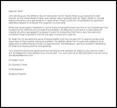 doctor recommendation letter recommendation letters livecareer