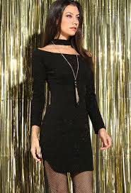 choker necklace dress images Textured black metallic off the shoulder choker dress w necklace aspx