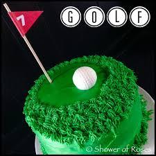 shower of roses golf birthday cake