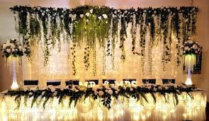 wedding backdrop greenery botanical collection glow event decor