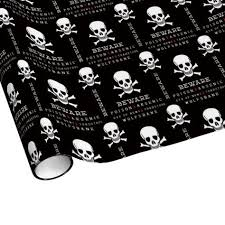skull wrapping paper skull pattern wrapping paper skull wrapping