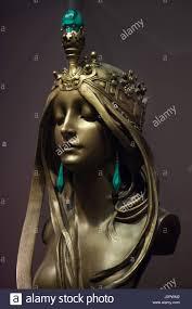 nature nouveau gilded bronze statuette designed by