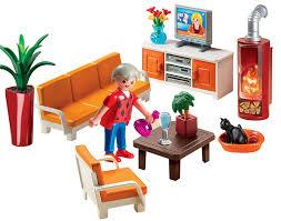 Comfortable Living Room Furniture Sets Amazon Com Playmobil Comfortable Living Room Toys U0026 Games