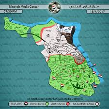 Isis Syria Map by Nineveh Media Center Last Updated Map Of Situation In Mosul