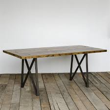 modern trestle dining table dining table reclaimed wood wb designs