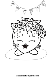 free strawberry kiss shopkins coloring page thelittleladybird com
