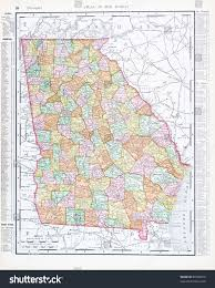 Georgia Map Usa by Map Georgia Usa Spoffords Atlas World Stock Photo 90708016
