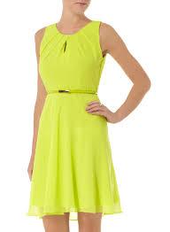 billie u0026 blossom lime pleat chiffon dress dorothy perkins united