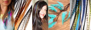 feathers in hair hair extensions take flight