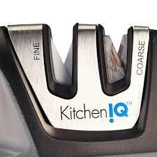 kitchen knives sharpening kitcheniq 50009 edge grip 2 stage knife sharpener black u2013 smartwish