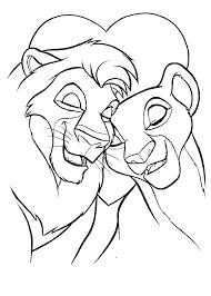 lion pictures print coloring