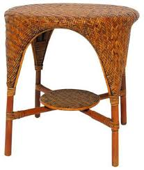 vintage rattan nesting tables palecek rattan bamboo waterfall table view in your room houzz