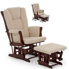 Nursing Rocking Chair Hauck Glider Rocking Nursing Chair U0026 Stool Walnut Beige